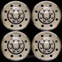 "Set of 4 16"" stainless steel hubcaps snap on hubcaps."