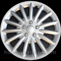 "Set of 4 17"" silver hubcaps."