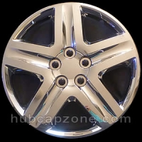 "Set of 4 16"" chrome hubcaps."