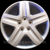 "Set of 4 16"" silver hubcaps."