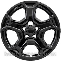 Black replica 2017-2019 Ford Escape hubcap 17""