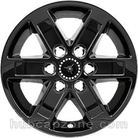"Black 17"" 6 lug GMC Sierra, Yukon, Savana wheel skins, 2007-2014"