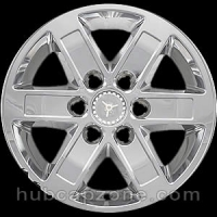 "Chrome 17"" 6 lug GMC Sierra, Yukon, Savana wheel skins, 2007-2014"