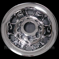 "Chrome 16"" 8 lug Chevy/GMC wheel skins, 2004-2011"