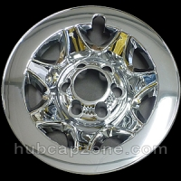 "Chrome 17"" 6 lug Chevy/GMC wheel skins, 2014-2019"