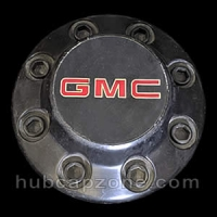 Black 1988-1992 GMC center cap 8 lug wheel