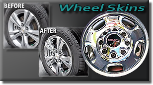 Wheel Skins - Chrome - Black